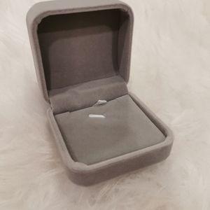 Grey Velvet Necklace box